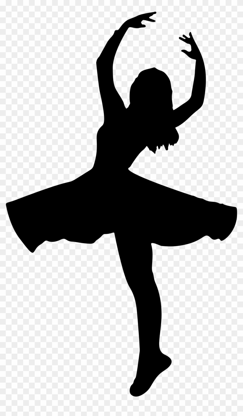 Clipart - Dancer Silhouette #10599