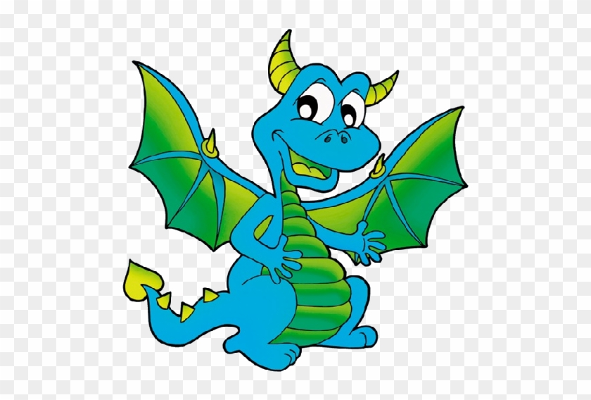 Funny Cartoon Dragon Clip Art - Dragon Clipart #10600