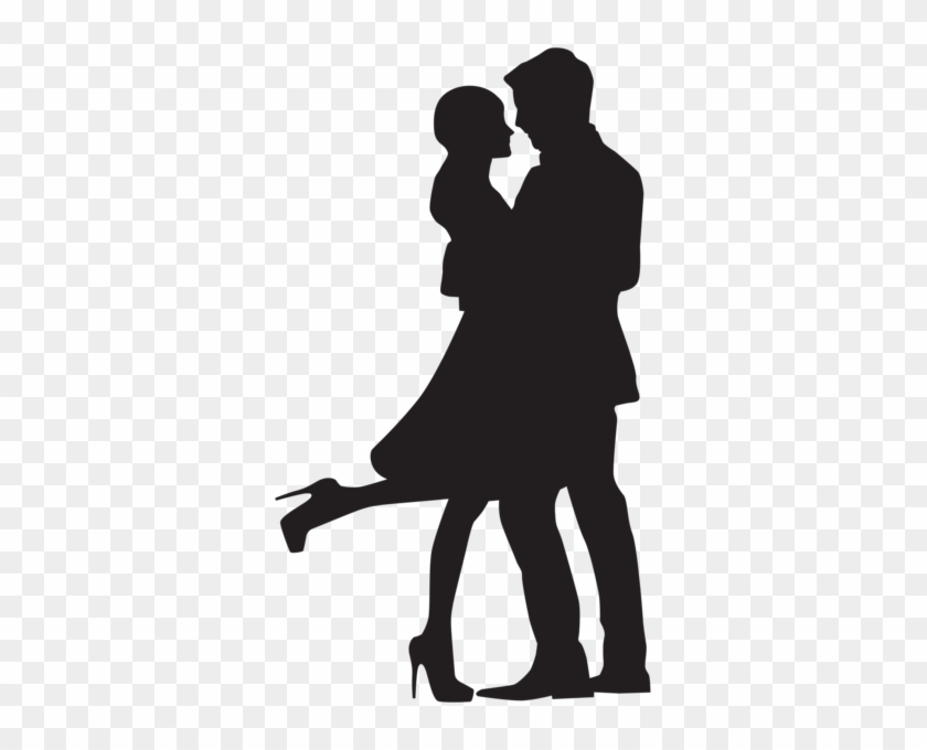 Couple In Love Silhouette Png Clip Art - Couple In Love Silhouette #10611