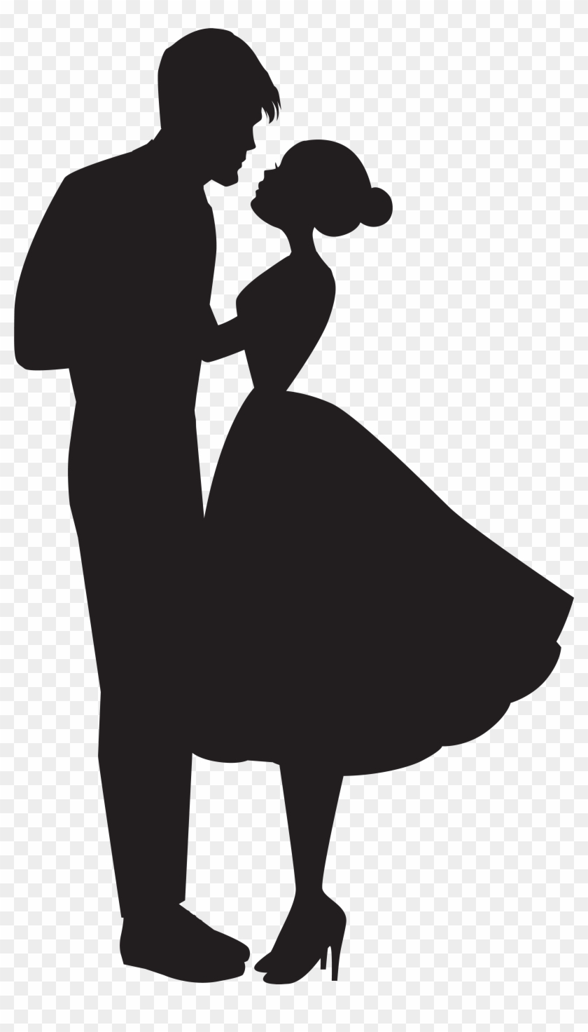 Silhouette Clipart Love - Couple Silhouette Png #10644