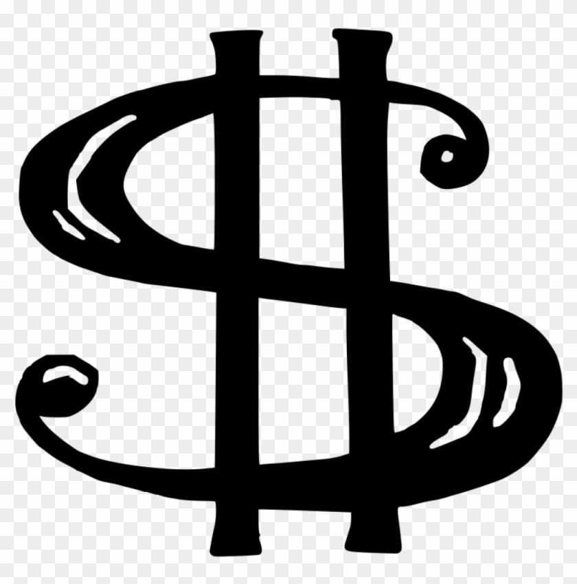 Money Sign Clip Art Dollar Sign Black And White Clipart - Clip Art Dollar Sign #10622
