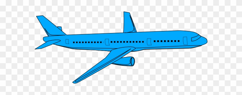 Aviation Clipart Blue Plane - Clip Art Blue Airplane #10637