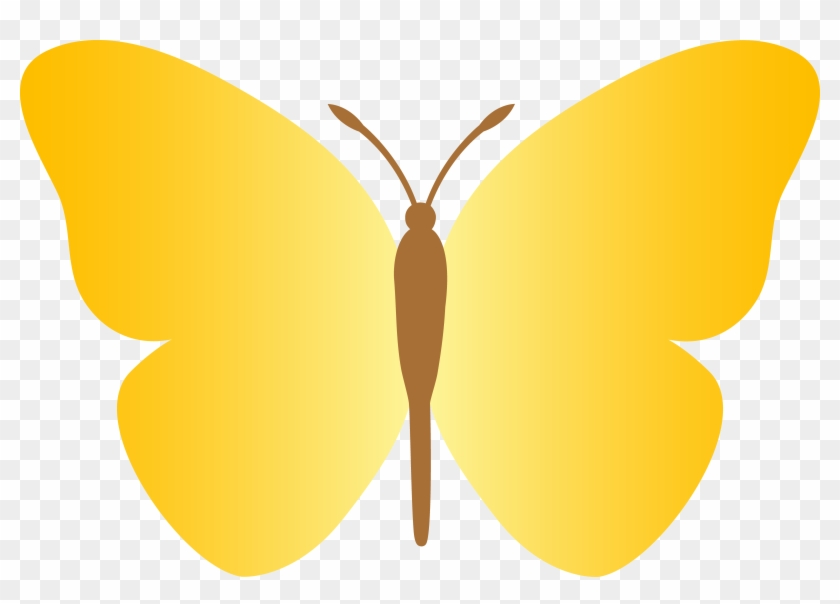 Butterfly Clipart Simple Butterfly - Butterfly Cartoon Yellow #10658