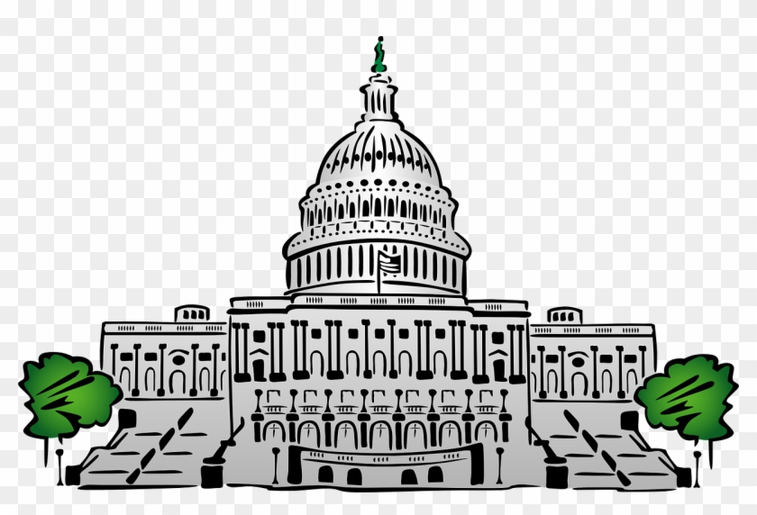 Sec & Cftc Chiefs To Talk Cryptocurrency With Congress - Capitol Building Clipart Png #10662