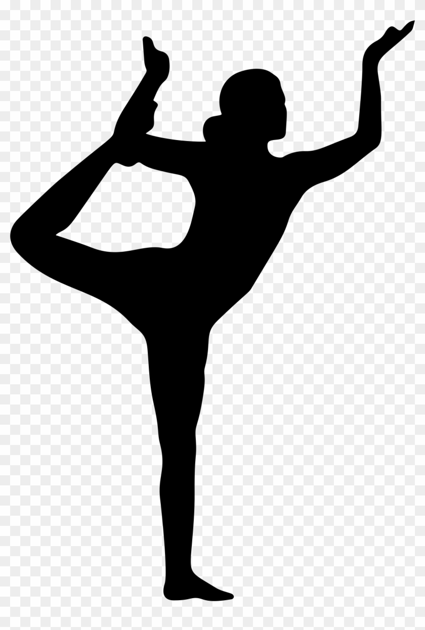 Yoga Clipart Transparent - Yoga Poses Silhouette Png #10667