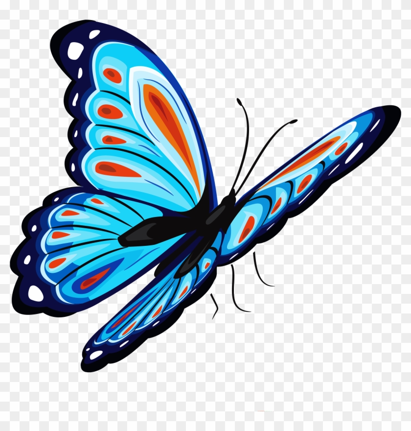 Download Blue Butterfly Png For Designing Projects - Png Butterfly #10674