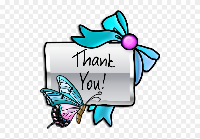 Google Clip Art Thank You Butterfly - Free Clipart Of Thank You #10677
