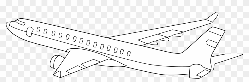 Airplane Clipart Black And White Aeroplane With Black Background