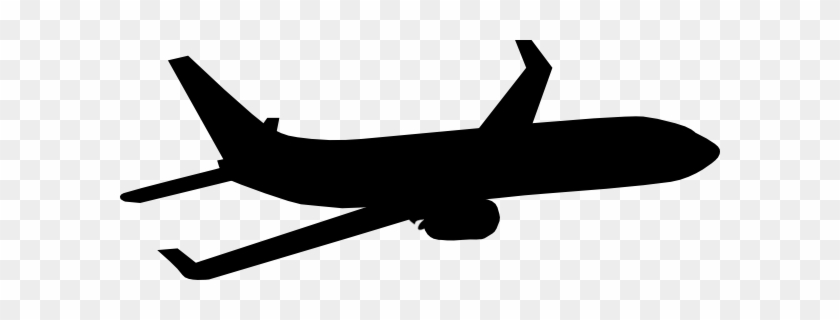 Aircraft Clipart Silhouette Pencil And In Color Clip - Plane Silhouette #10704