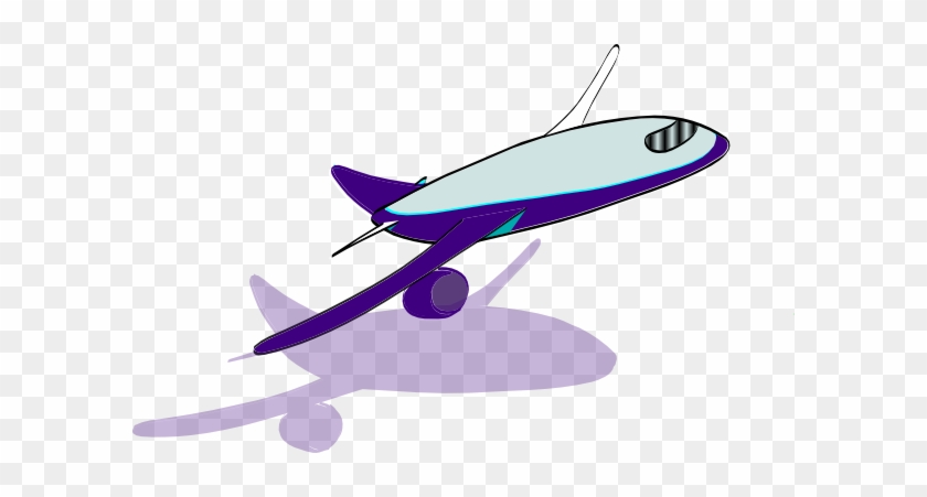 Airplane Clipart Purple - Airplane Take Off Clipart #10711