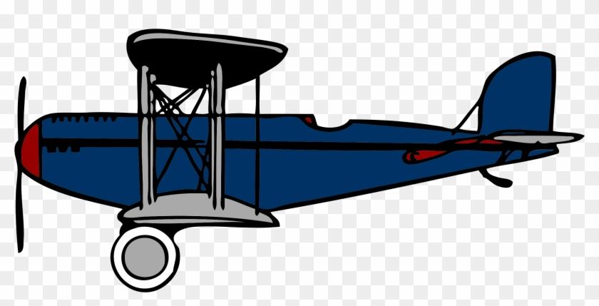 Airplane Clipart Clip Art Library - Biplane Clipart #10723