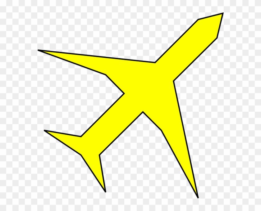 Airplane Clipart Yellow Airplane - Yellow Plane Clip Art #10743