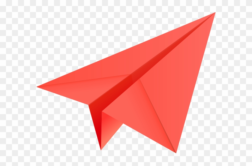 Free Paper Airplane Clipart 4 Clipartbarn - Red Paper Plane Png #10751