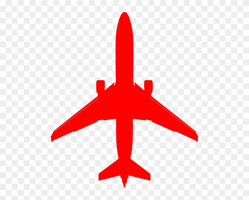 Red Plane Clip Art At Clker Com Vector Online Royalty - Plane Silhouette Blue #10752