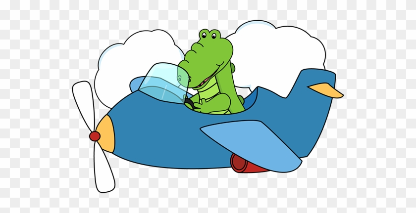 Airplane Clipart Wallpapers Airplane Clipart - Alligator In An Airplane #10758