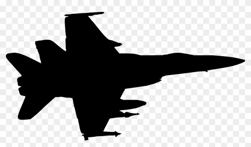 Jet Clipart War Plane Military Plane Silhouette Free