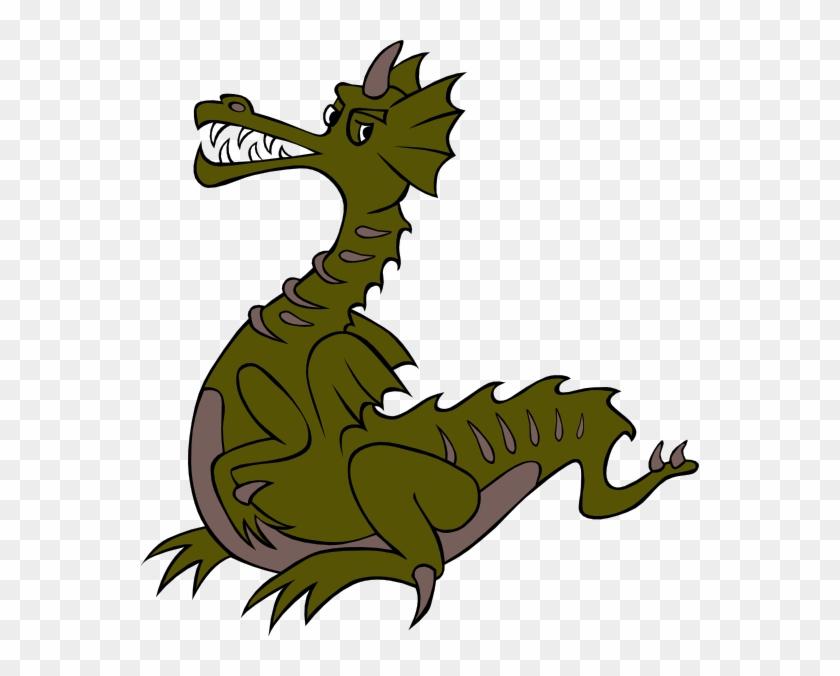 Dragon Ball Clip Art - Green Dragon Cartoon Png #10774