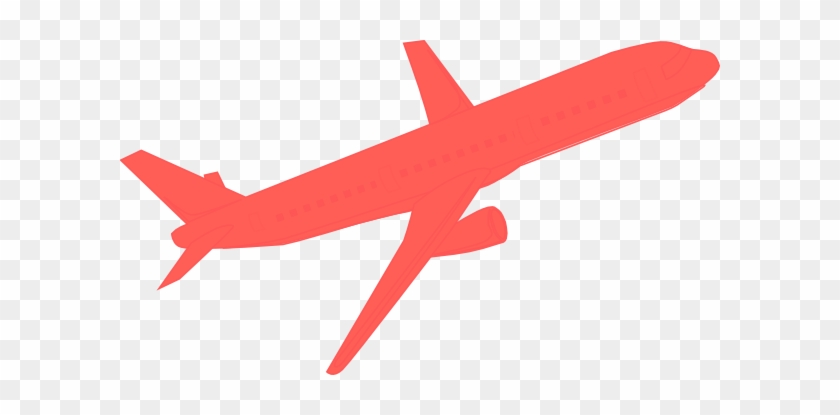 Airplane Coral Clip Art - Red Airplane Clipart #10787