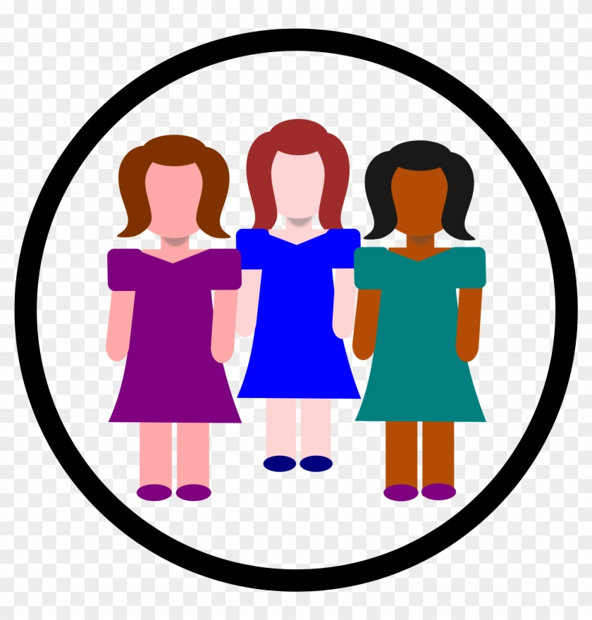 Big Image - Women In Circle Clipart #10791