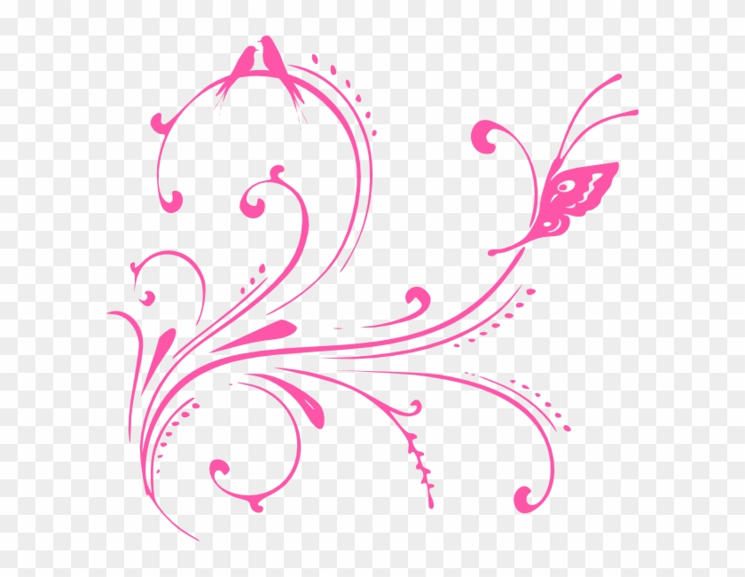 Pink Butterfly Background Png #10797