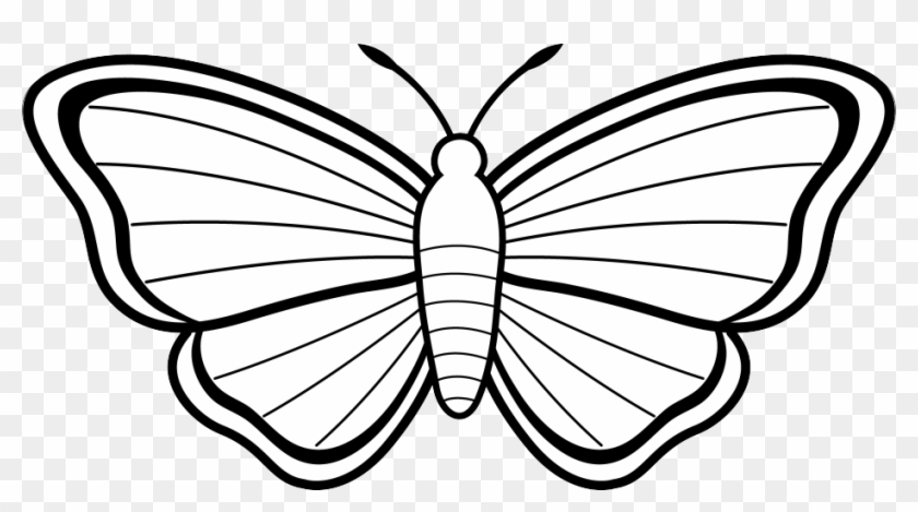 Butterfly Clip Art Black And White - Butterfly Clipart Black And White #10810