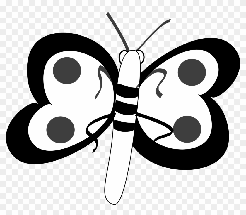 Butterfly Black And White Butterfly Clip Art Black - Butterfly Bar Clipart Black And White #10820