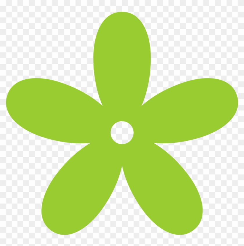 Green Floral Cliparts - Flower Clipart Png #10849