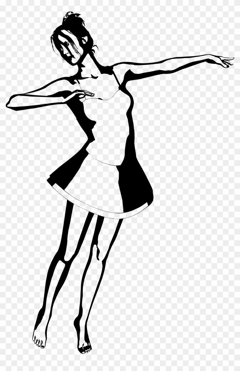 Woman Silhouette Dance Clip Art - Woman Silhouette Dance Clip Art #10896
