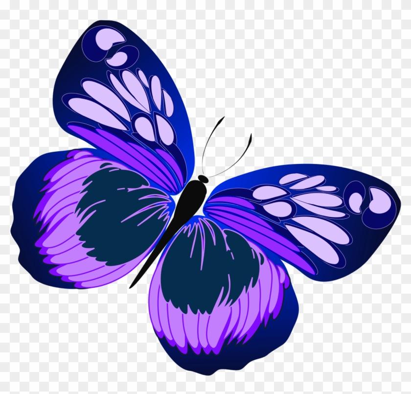 Butterfly Clipart - Purple Butterfly Clip Art #10855