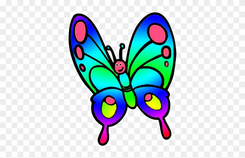 Butterfly Clipart Beautiful Pastel Colored Butterflies - Butterfly Images Clip Art #10861