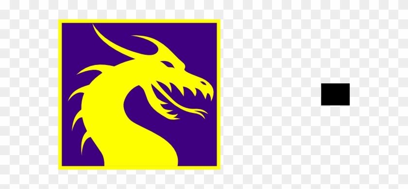 Purple And Gold Dragon Clip Art - Purple And Yellow Dragon #10879