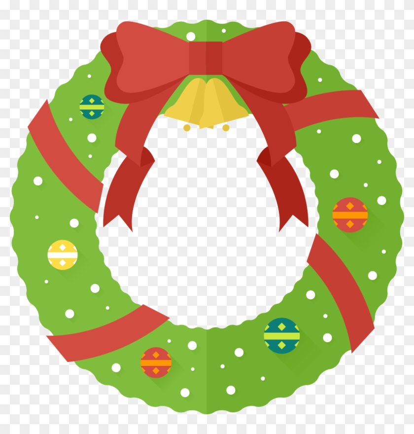 Free To Use & Public - Christmas Wreath Clipart #10889