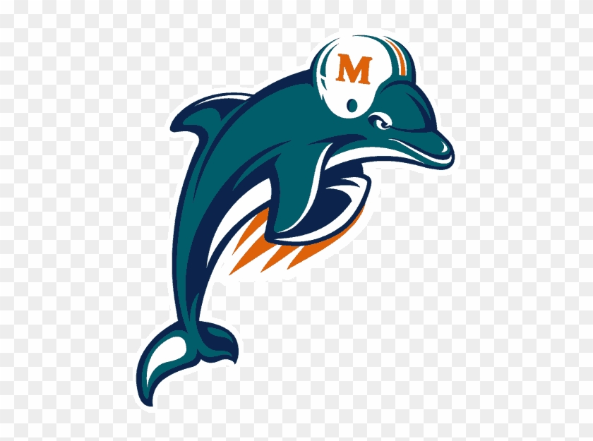 Football Team Logos Clip Art - Miami Dolphins Old Logo #10894