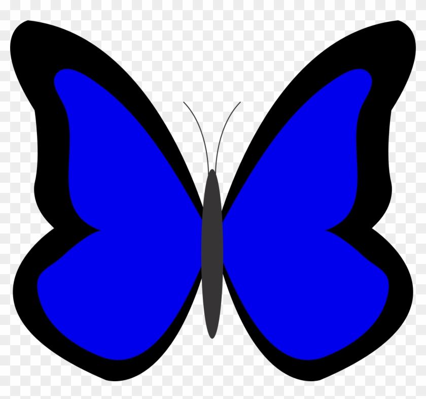 Butterfly Clipart Xigxrr5ia Blue Blue Color Clipart - Blue Butterfly Clip Art #10899