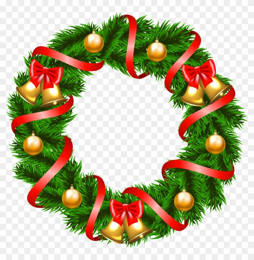 Free Christmas Wreath Clip Art - Christmas Wreath Clip Art #10943
