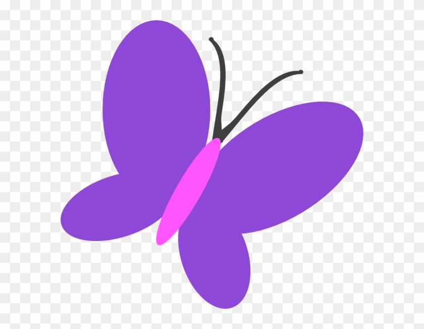 Violet Butterfly Clipart Purple Flip Clip Art At Clker - Butterfly Clip Art Purple #10922