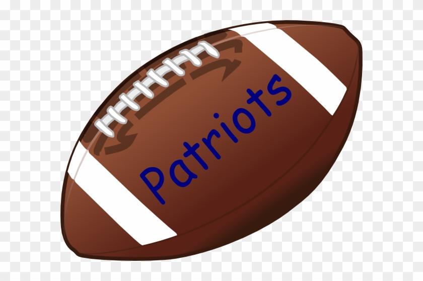 American Football Clip Art At Clker - Patriots Football Clip Art #10935