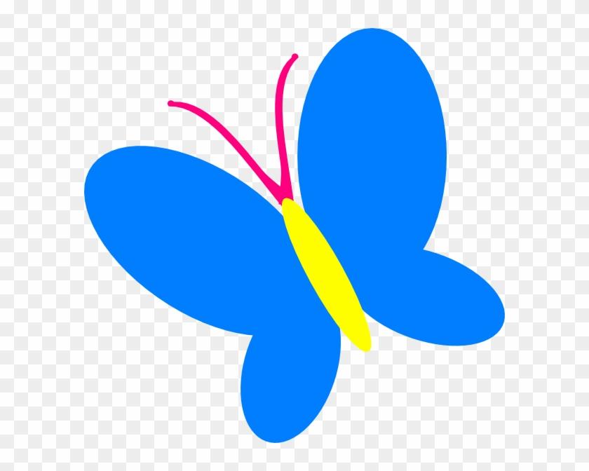 Blue Butterfly Clip Art At Vector Clip Art - Butterfly Clip Art Blue #10938
