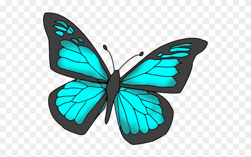 Blue Butterfly Clipart Free Images - Pink Butterfly #10969