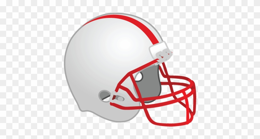 College Football Clipart - Red Football Helmet Clipart #10977