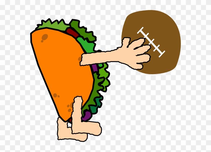 Td Taco Clip Art At Vector Clip Art - Taco Football #10978