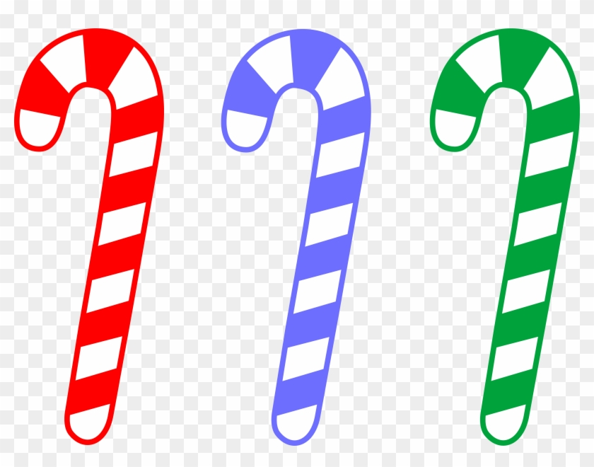 Candy Cane Clipart - Green Candy Cane Clipart #11038