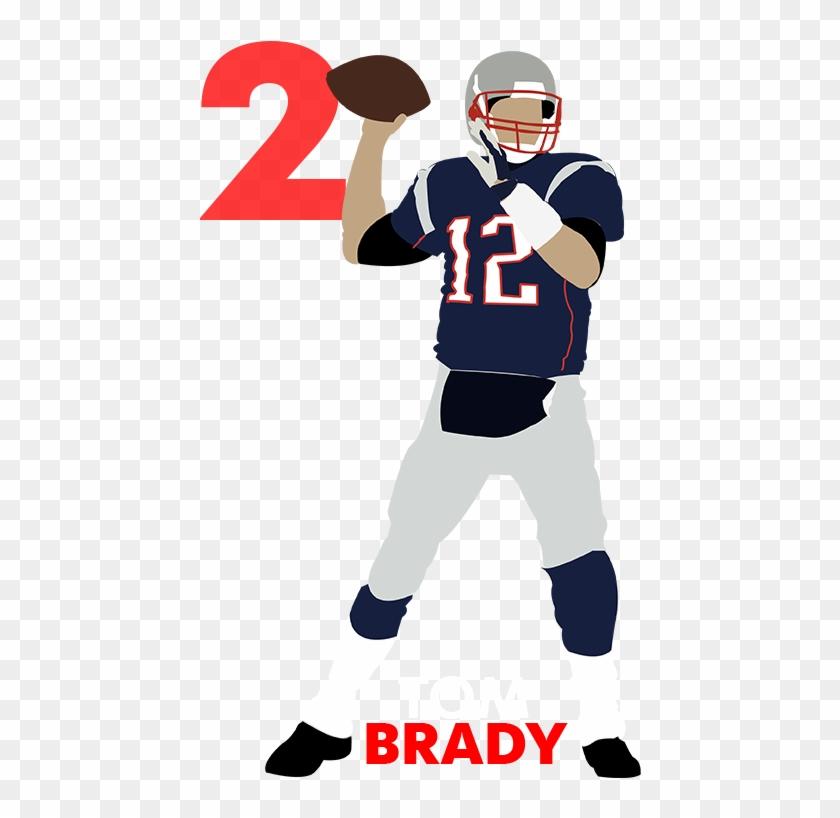 Qb Rank No - Tom Brady Throwing Football Cartoon #11043