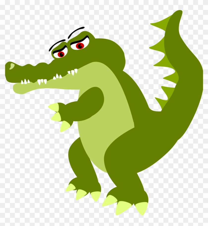 Big Image - Crocodile Cartoon Png #11051