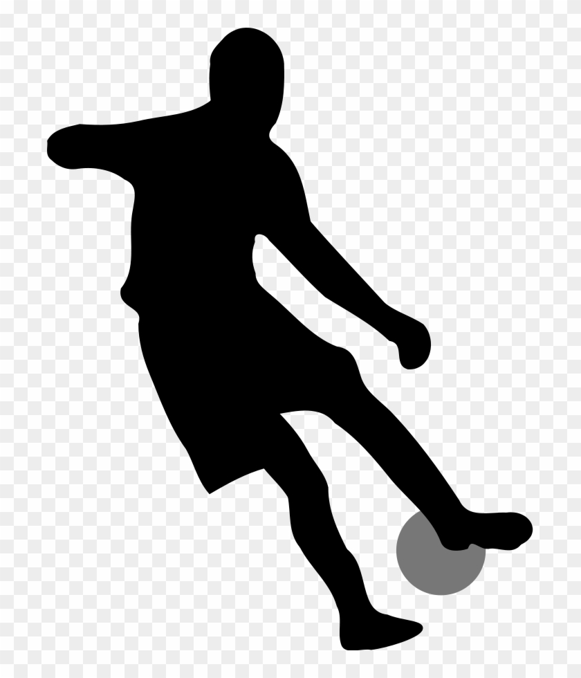Simple Football Clipart - Soccer Player Silhouette No Background #11056