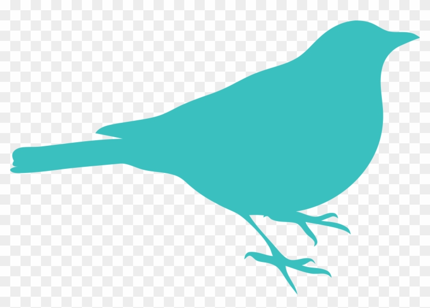 Medium Turquoise Bird Clipart Png - Bird Silhouette Clip Art #11057