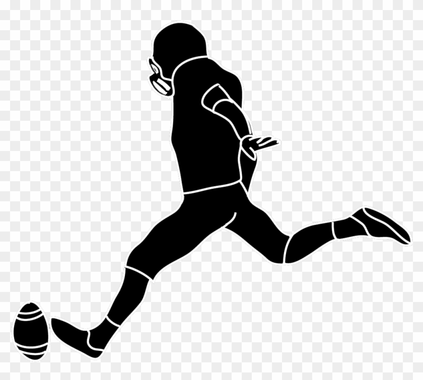 Mean - Football - Player - Clipart - Football Kicker Clipart #11069