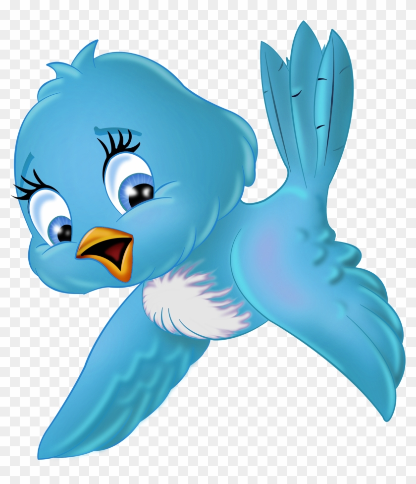 Blue Bird Clipart Large Png Cartoon 122 Lady A Little - Bird Cartoon Png #11113