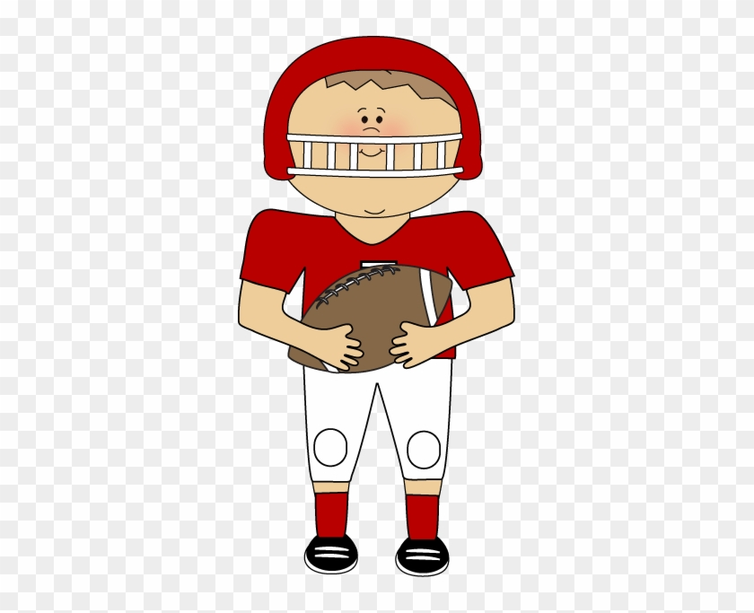 Football Player Clip Art - Playing American Football Clipart #11122