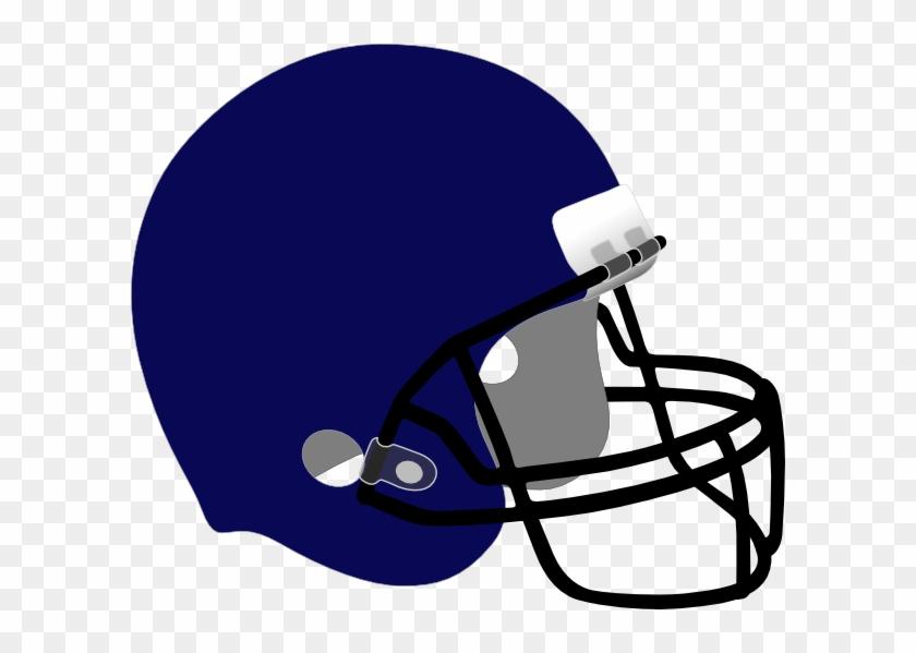 Football Helmet Clip Art - Dark Blue Football Helmet #11125